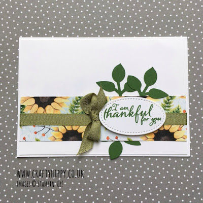 Take a look at this gorgeous Garden Green sunflower card by Stampin' Up!