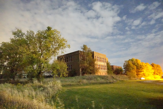 Abandoned Dysart-Geneseo Consolidated School in Iowa