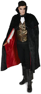 Black Gothic Vampire Male Adult Costume for Halloween