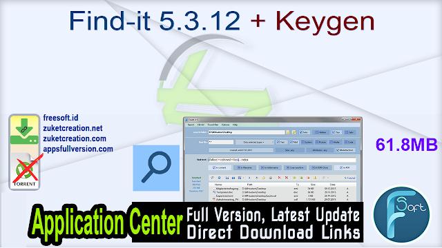 Find-it 5.3.12 + Keygen