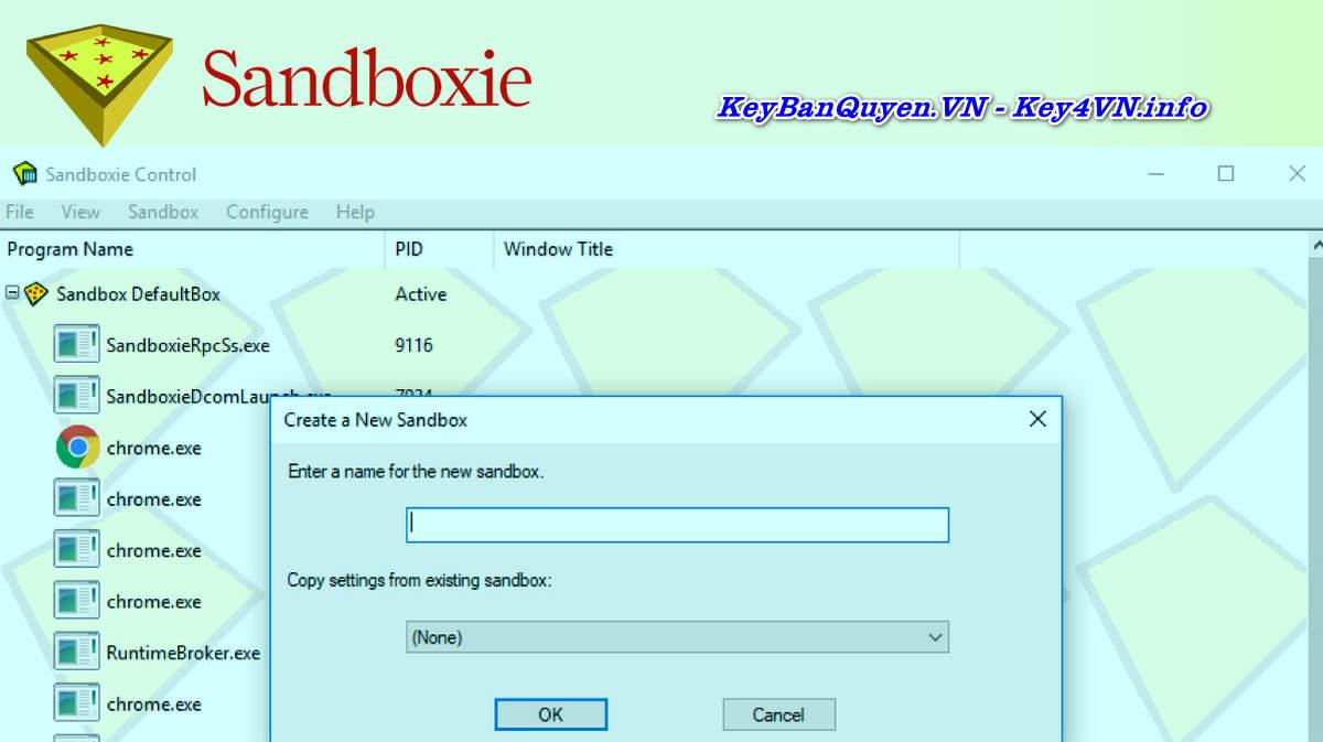 Download và cài đặt Sandboxie 5.33.3 Full Key Serial, Tạo môi trường ảo để chạy ứng dụng an toàn.