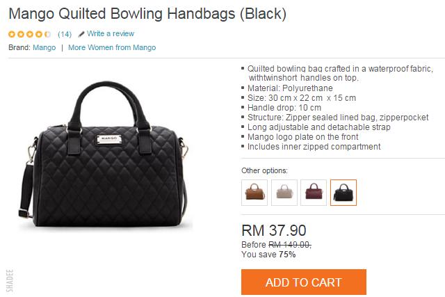 handbag mango murah sale lazada