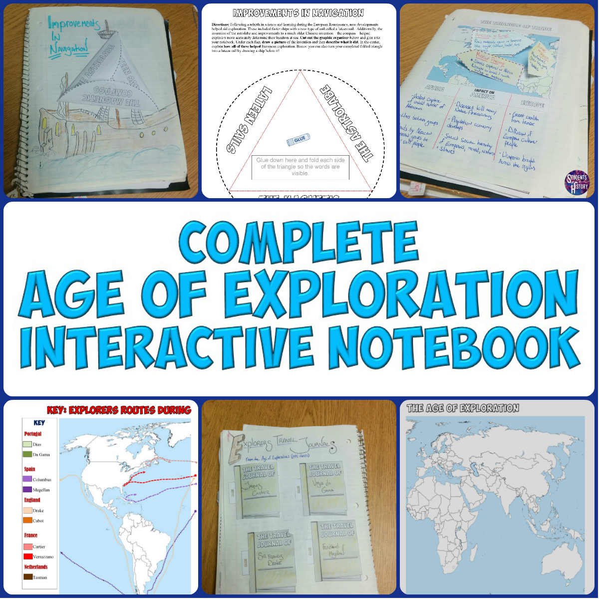 Students Of History Age Of Exploration Interactive Notebook
