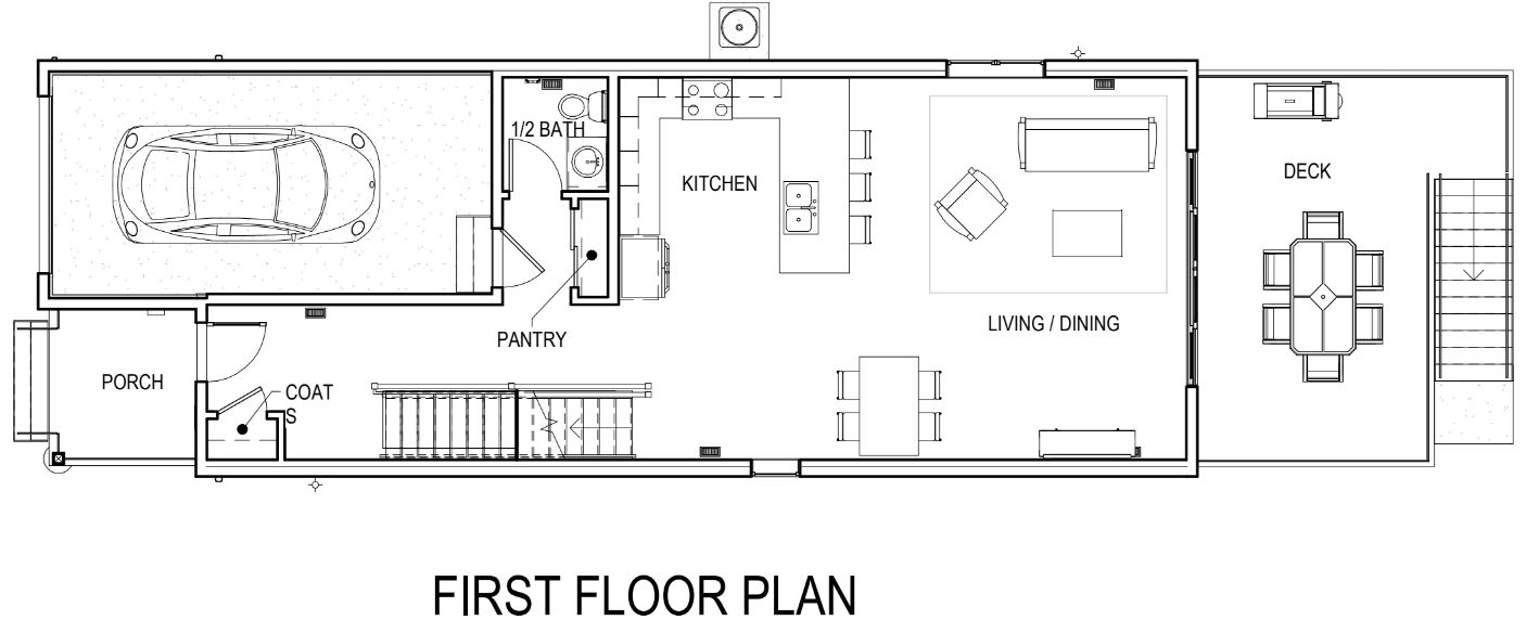 In Front Of The Sliding Glass Door Next To Deck Below Is A Plan View And Renderings New Furniture Layout With More Come Upcoming Days