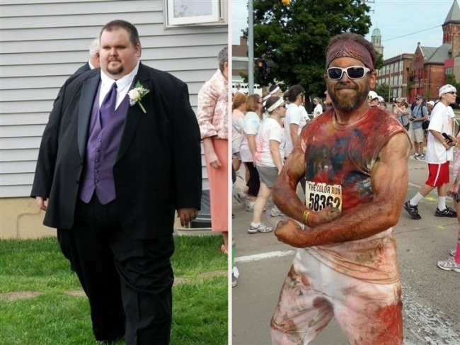 #9. The guy on the left had a long journey before he became the healthier person you see on the right. - 23 Inspirational Before/After Photos Of People Who Can Say 'I Did It.'