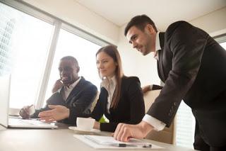 Multiracial business partners
