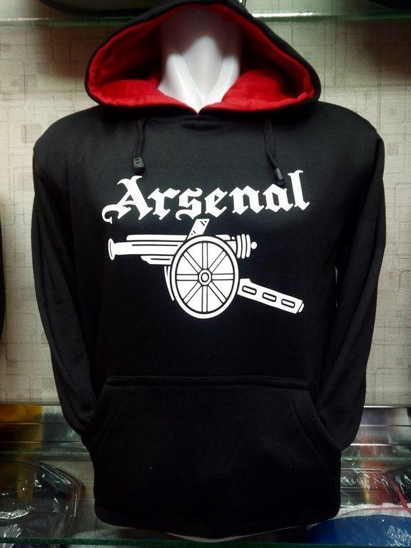 Jual Jaket Hoodie Arsenal Warna Hitam Logo Meriam