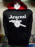 Jual Jaket Hoodie Arsenal Hitam Logo Meriam