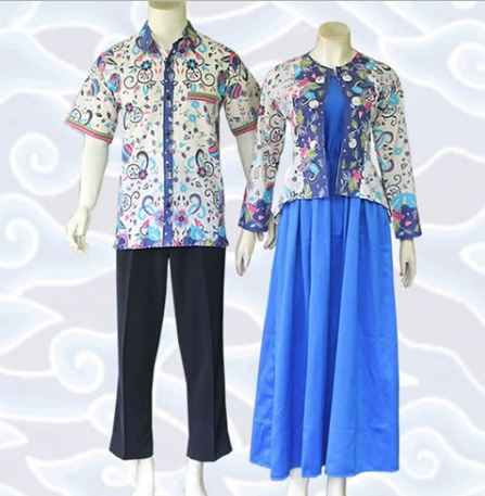 contoh model baju batik couple modis