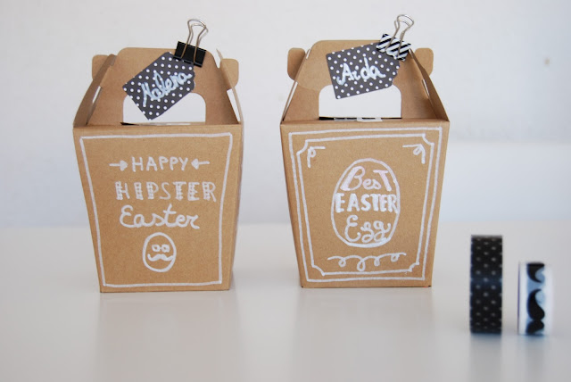 Caja de chocolate para pascua estilo Hipster. DIY Hispter Easter chocolate box