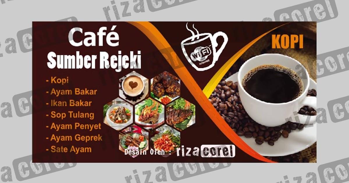 Desain Template Warung Kopi, Cafe - Riza Corel