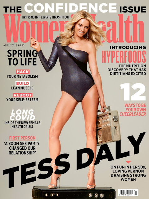 TESS DALY for Women's Health Magazine, UK April 2021