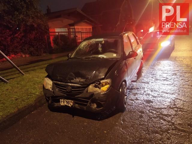 Osorno: Accidente de tránsito en Av. Manuel Rodríguez