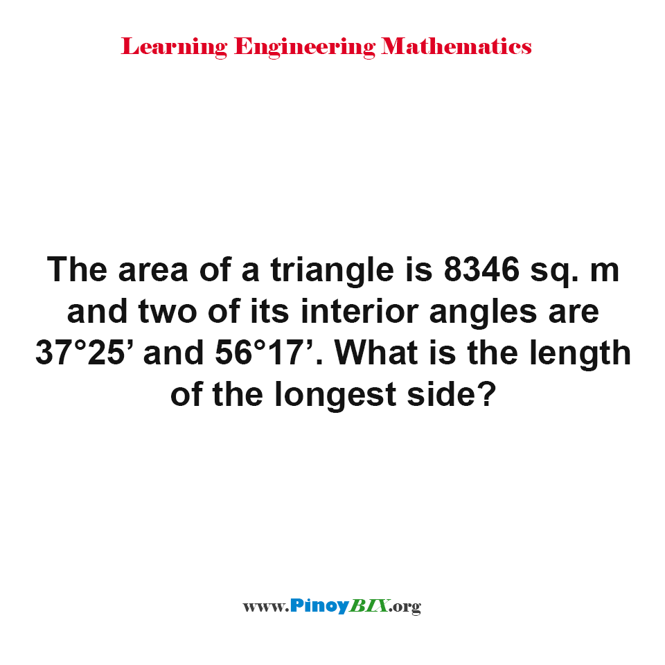 What is the length of the longest side of a triangle?