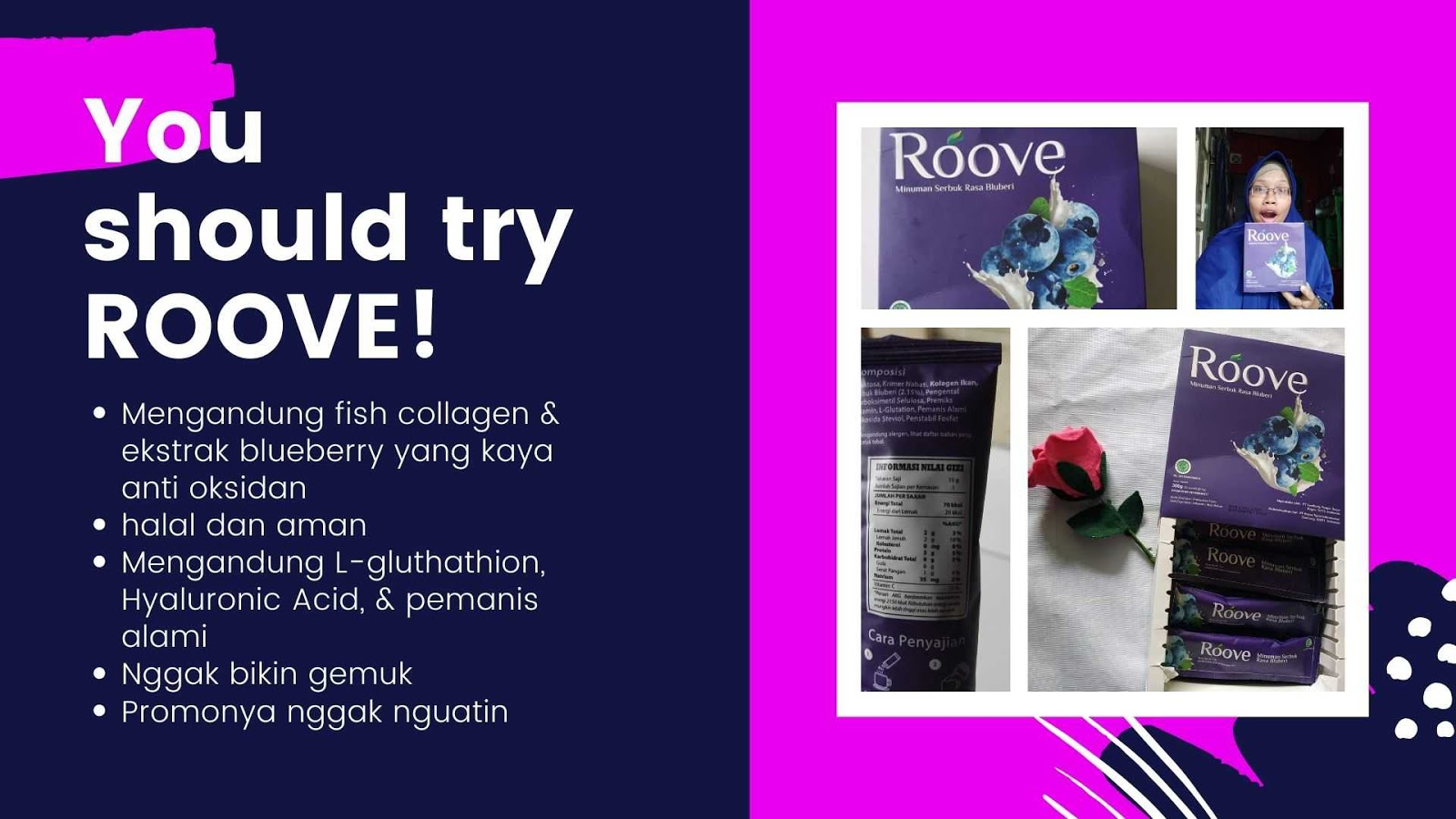 alasan harus mengonsumsi roove beauty drink