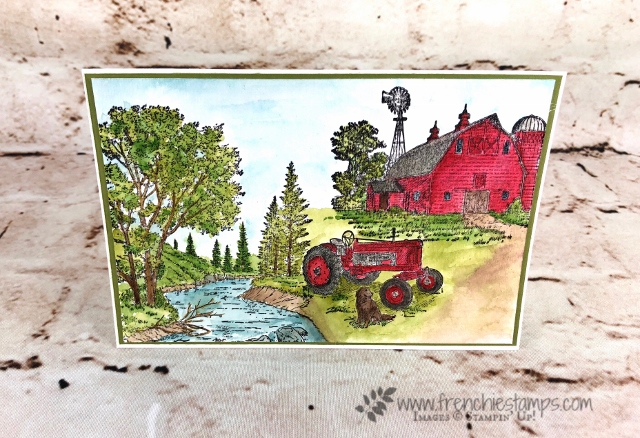 Heartland, Peaceful Place, Watercolor Scenery, Frenchiestamps,