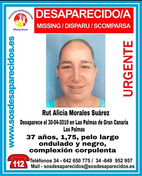 Rut Alicia Morales, mujer desaparecida las palmas gran canaria