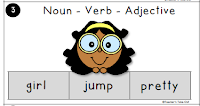 Which one is the Noun Verb and Adjective?