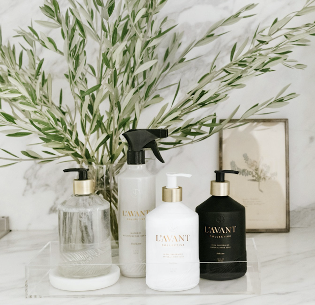 L'AVANT Collective Plant based Hand Soap, Dish Soap and All purpose cleaner make spring cleaning the most refreshing its ever been!