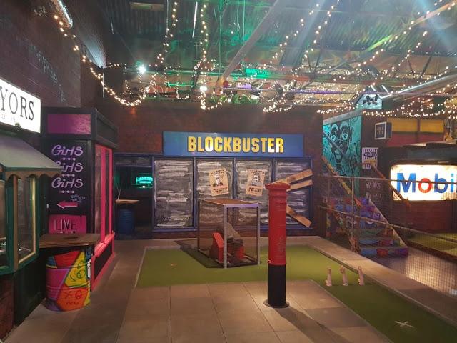 The Blockbuster shop hole at Ghetto Golf Birmingham
