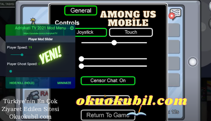 Among Us Mobile 2020.11.17 İmpostor Olma, Speed Hilesi Mega Özellik