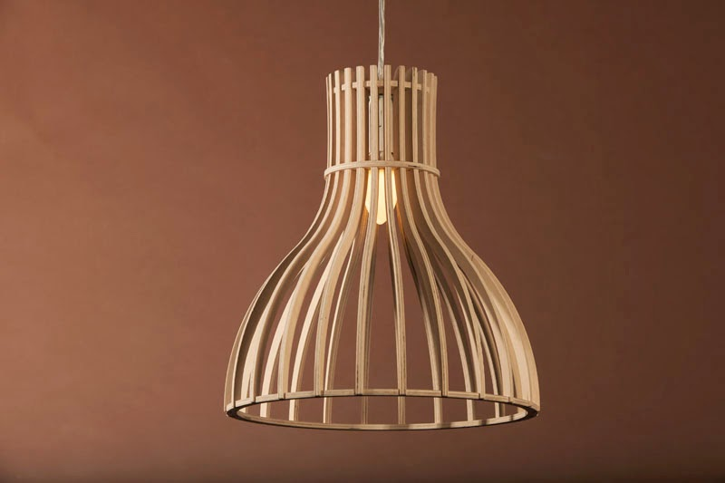Wood & Bamboo Pendant Lights 23