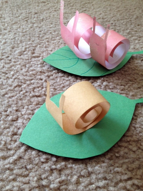 Art For Young Children Snail Paper Craft Project