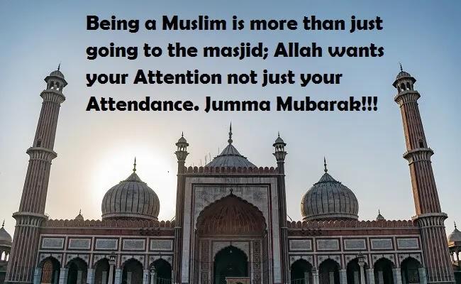 Allah wants Attention not Attendance jumma Mubarak image