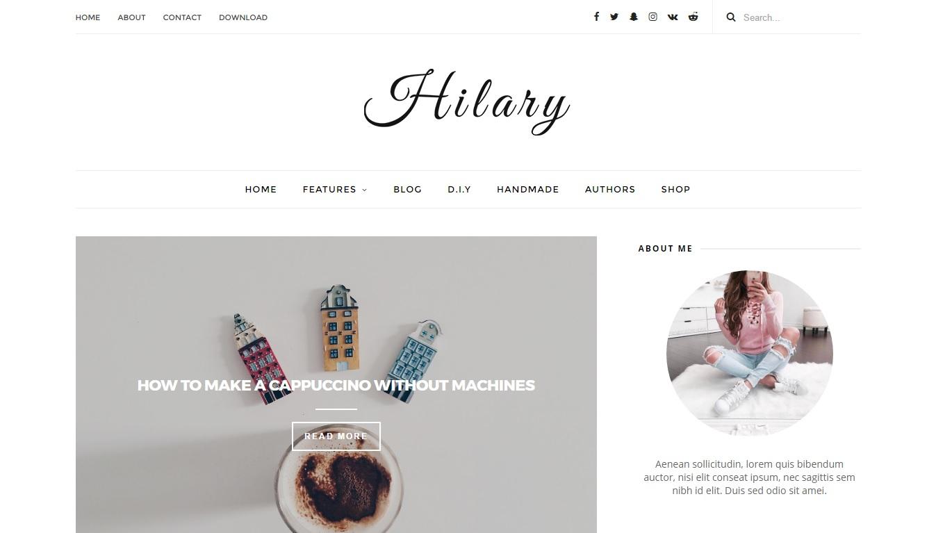 Hilary Responsive Elegant Blogger Template - Klik Munadi Template