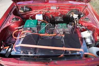 Michigan teenager coverts his gasoline Toyota Celica to electric