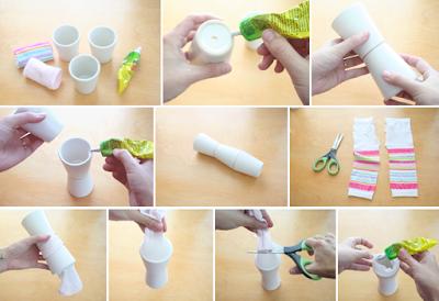 Ide Kreatif Menghias Vas Bunga Dari Gelas Plastik Bekas Botol Aqua