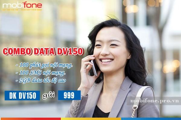 Gói combo data DV150 Mobifone