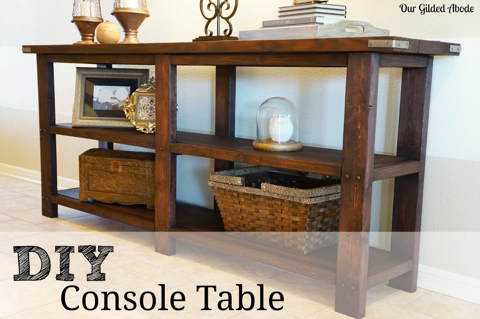 diy console table reveal. Black Bedroom Furniture Sets. Home Design Ideas