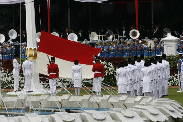 Indonesia national flag raising ceremony, held regularly every year
