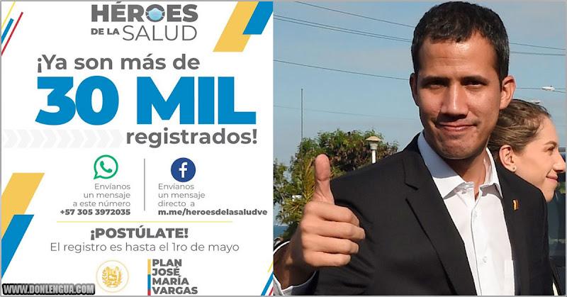 30.000 personas ya se registraron para recibir los 100$ de Guaidó