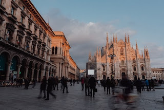 Milan's famous Gothic cathedral at the heart of  Lombardy's principal city