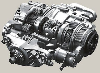 View of the torque-vectoring differential.