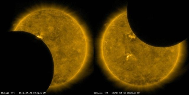 The Moon passed in front of the Sun, reversed course, and did it again!