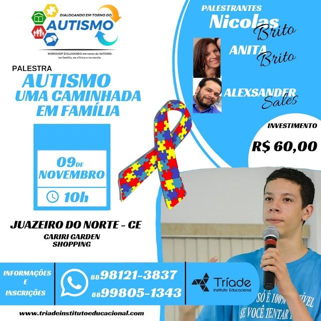 Nicolas Brito palestra sobre Autismo, no próximo dia 9,em Juazeiro do Norte
