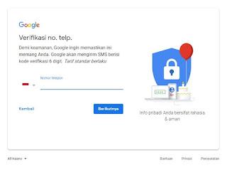 Proses pendaftaran akun gmail