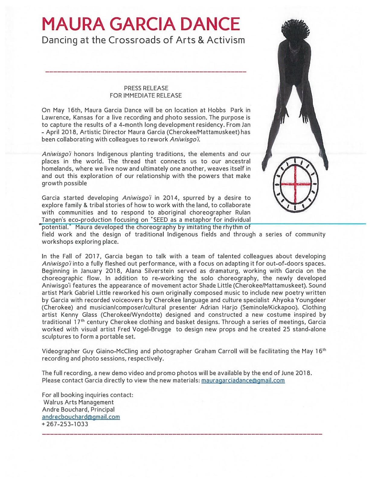Maura Garcia Dance: Press Releases