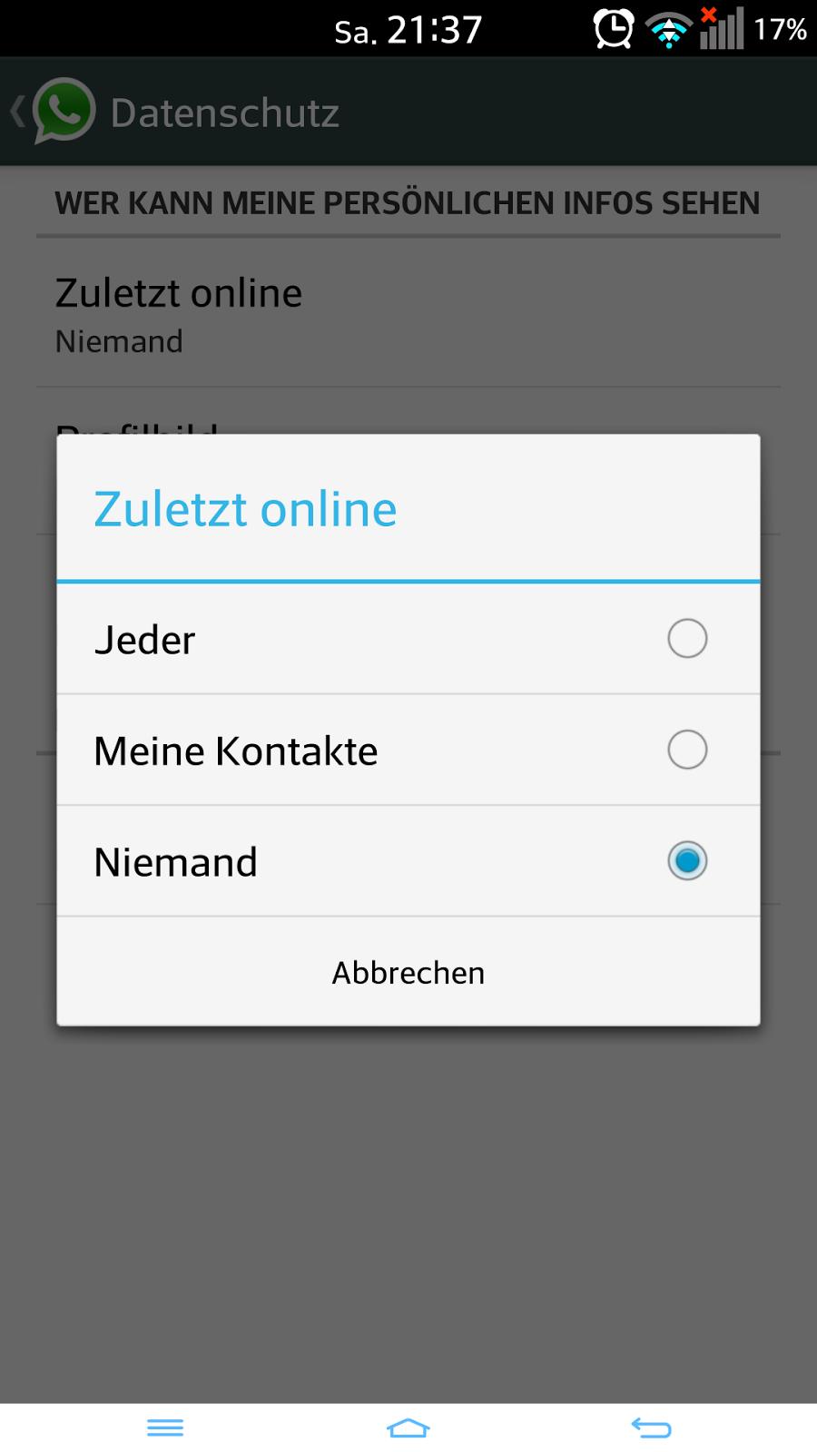 Von Sinn Und Unsinn Whatsapp Endlich Hide Online Status
