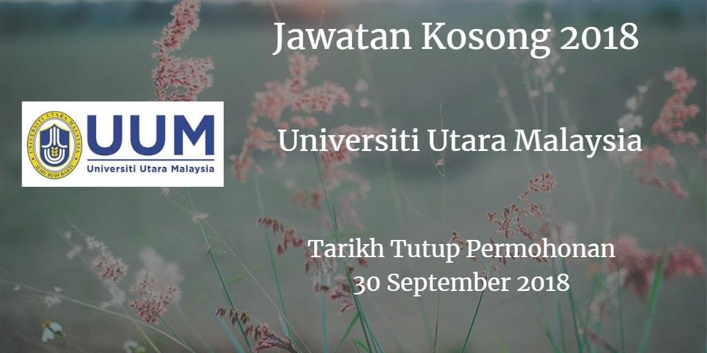 Jawatan Kosong UUM 30 September 2018