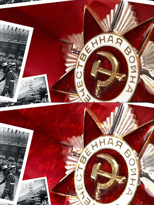 Designing collage for Victory Day 9 May