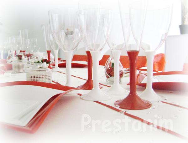 Ma décoration de mariage: Décorations mariage en rouge et blanc