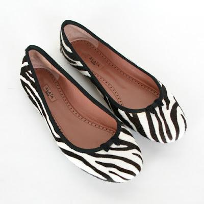 alaia paris zebra flats