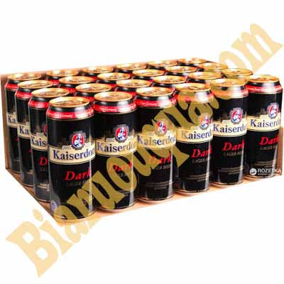 Thùng bia lon Kaiserdom Dark Lager 24 lon
