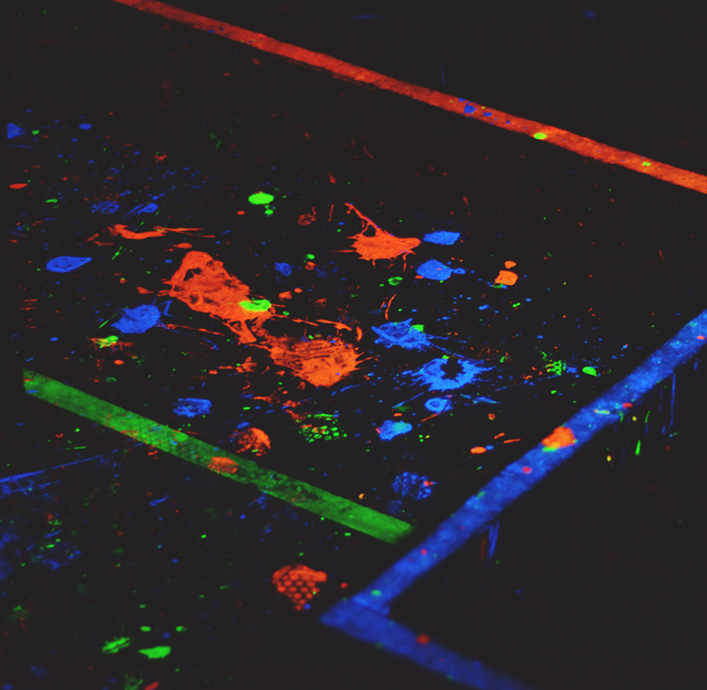UV paint splatters
