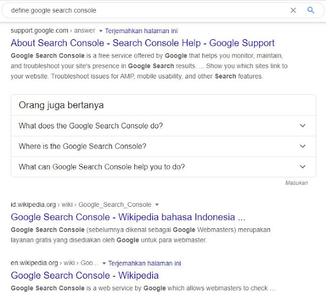 tanda define Google Search Engine Optimization