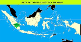 Peta Provinsi Sumatera Selatan